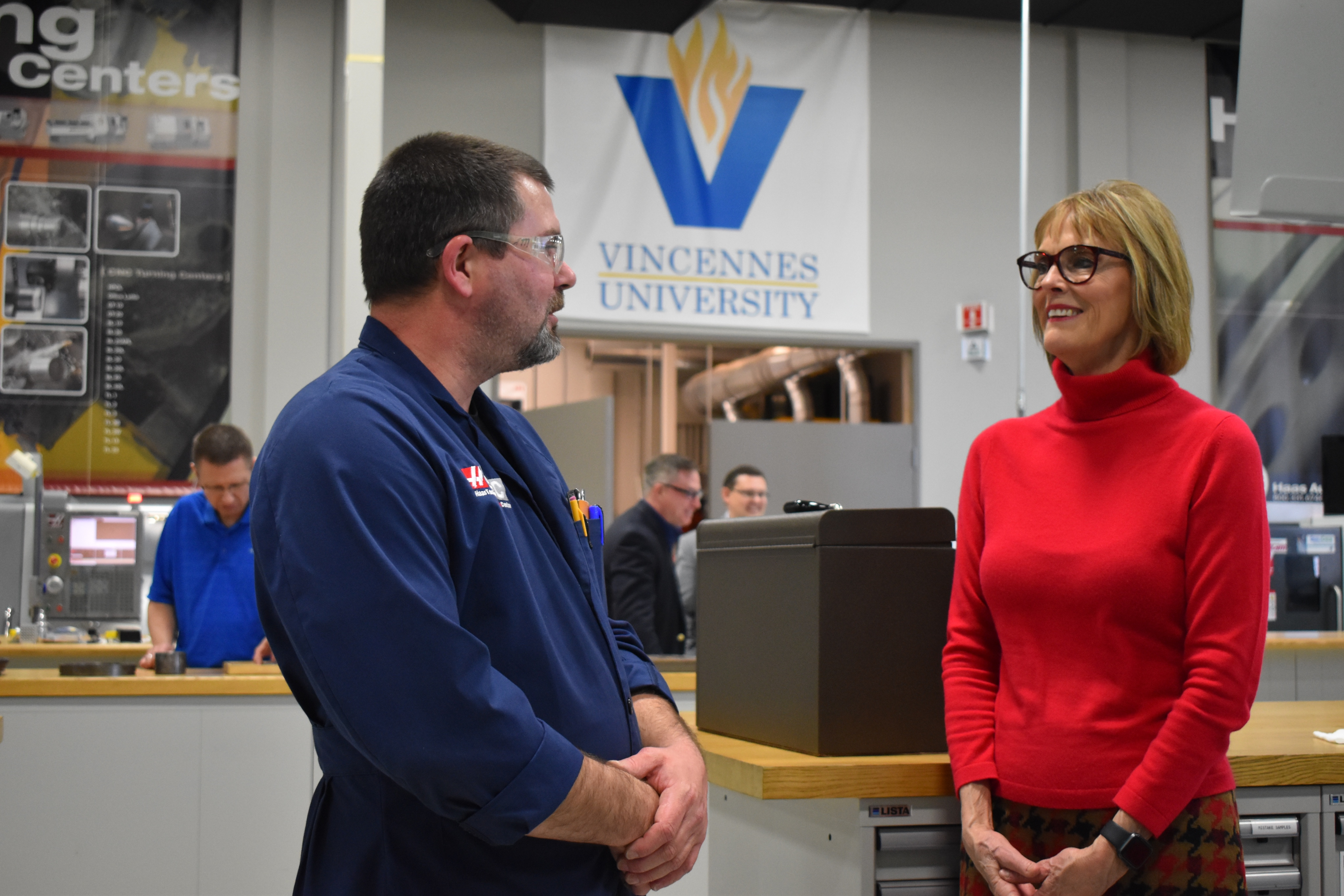 Indiana Lt. Governor praises Vincennes University's role in educating a 21st Century workforce